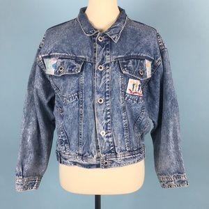 Vintage Denim Acid Wash Patchwork Jacket